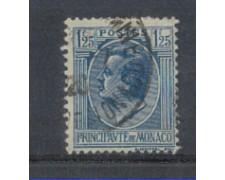 1924 - LOTTO/8528U - MONACO - 1,25 Fr.AZZURRO - USATO