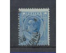 1924 - LOTTO/8529U - MONACO - 1,50 Fr.AZZURRO - USATO