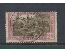 1924 - LOTTO/8530U - MONACO - 2 Fr. LILLA E BRUNO - USATO