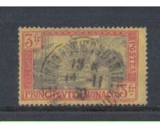 1924 - LOTTO/8531U - MONACO - 3 Fr. CARMINIO ARDESIA - USATO