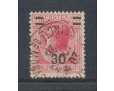 1926 - LOTTO/8534U - MONACO - 30 su 25c. ROSA - USATO