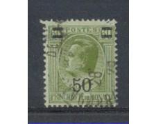 1926 - LOTTO/8535U - MONACO - 50c. su 60c. OLIVA - USATO