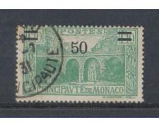 1926 - LOTTO/8537U - MONACO - 50c. su 1,10 VERDE - USATO