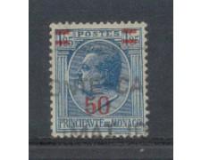 1926 - LOTTO/8538U - MONACO - 50c. su 1,25 AZZURRO - USATO