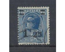 1926 - LOTTO/8539U - MONACO - 1,25 SU 1 Fr. AZZURRO - USATO