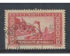 1933 - LOTTO/8542UA - MONACO - 15c. VEDUTE - USATO