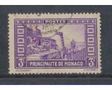 1933 - LOTTO/8542UN - MONACO - 3 Fr. VEDUTE - USATO