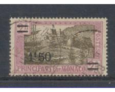 1926 - LOTTO/8540U - MONACO - 1,50 Fr. su 2 Fr. LILLA ROSA - USA