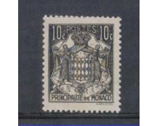 1942 - LOTTO/8576AL - MONACO - STEMMA - 10c. NERO