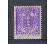 1942 - LOTTO/8576DU - MONACO - 50c. STEMMA - USATO