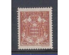 1942 - LOTTO/8576FL - MONACO - 70c. BRUNO ROSSO STEMMA