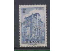 1942 - LOTTO/8576OU - MONACO - 10 Fr. AZZURRO VEDUTE - USATO