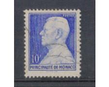 1946 - LOTTO/8581DU - MONACO - 10 Fr. AZZURRO - USATO