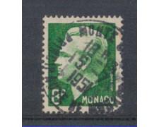 1950 - LOTTO/8605CU - MONACO - 8 Fr. VERDE SCURO RANIERI III° -