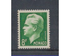 1950 - LOTTO/8605C - MONACO - 8 Fr.VERDE SCURO RANIERI III°