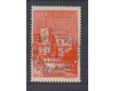 1954 - LOTTO/8619U - MONACO -25 Fr. ROSSO VEDUTE - USATO