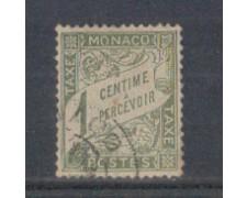 1905 - LOTTO/ 4954T1 - MONACO - 1c. OLIVA SEGNATASSE - USATO