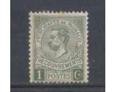 1910 - LOTTO/4954T8 - MONACO - 1c. ALBERTO I° SEGNATASSE