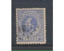 1872 - LOTTO/3584AU - OLANDA - 5c. OLTREMARE - USATO