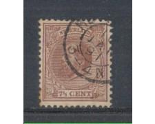 1872 - LOTTO/3584BU - OLANDA - 7,5c. BRUNO ROSSO - USATO
