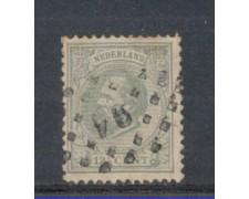 1872 - LOTTO/3584DU - OLANDA - 12,5c. GRIGIO - USATO
