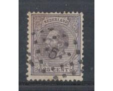 1872 - LOTTO/3584HU - OLANDA - 25c. VIOLETTO - USATO