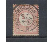 1876 - LOTTO/3585AU - OLANDA - 1/2c. ROSA - USATO