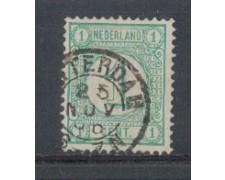 1876 - LOTTO/3585BU - OLANDA - 1c. VERDE - USATO