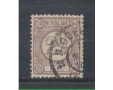 1876 - LOTTO/3585DU - OLANDA - 2,5c. VIOLETTO - USATO