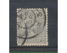 1891 - LOTTO/3586EU - OLANDA - 12,5c. GRIGIO AZZURRO - USATO