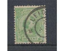 1891 - LOTTO/3586GU - OLANDA - 20c. VERDE - USATO