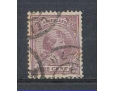 1891 - LOTTO/3586IU - OLANDA - 25c. LILLA - USATO