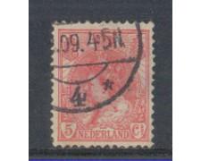 1898 - LOTTO/4005CU - OLANDA - 5c. ROSA - USATO