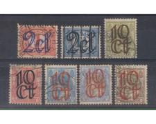 1923 - LOTTO/8639U - OLANDA - SOPRASTAMPATI 7v. - USATI
