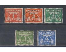 1924 - LOTTO/8643U - OLANDA - CIFRA 5v. USATI