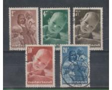 1947 - LOTTO/8717U - OLANDA - PRO INFANZIA 5v. - USATI