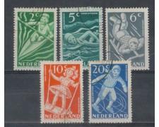 1948 - LOTTO/8721U - OLANDA - PRO INFANZIA 5v. - USATI