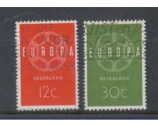 1959 - LOTTO/8772U - OLANDA - EUROPA 2v. - USATI