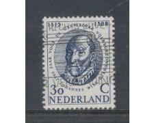 1960 - LOTTO/8777BU - OLANDA - 30c. JOHANNES WIER - USATO