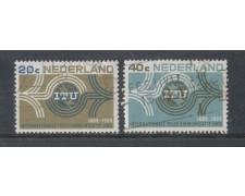 1965 - LOTTO/8808U - OLANDA - CENTENARIO U.I.T - USATI