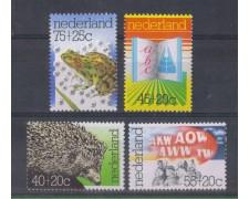 1976 - LOTTO/8890 - OLANDA - BENEFICENZA 4v.