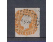 1862 - LOTTO/9613U - PORTOGALLO - 10r. ARANCIO - USATO