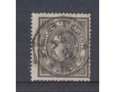1879 - LOTTO/9643AU - PORTOGALLO - 5r. NERO - USATO
