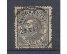 1879 - LOTTO/9643BU - PORTOGALLO - 5r. NERO - USATO