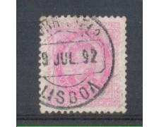 1882 - LOTTO/9644DU - PORTOGALLO - 20r. ROSA - USATO