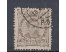 1882 - LOTTO/9644EBU - PORTOGALLO - 25r. BRUNO - USATO