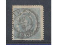 1879 - LOTTO/8643DBU - PORTOGALLO - 25r. AZZURRO GRIGIO - USATO
