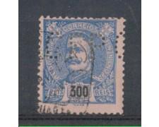 1895 - LOTTO/9652ZU - PORTOGALLO - 300r. AZZURRO - USATO