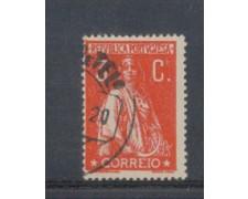 1917 - LOTTO/9666DAU - PORTOGALLO - 3c. ROSSO - USATO