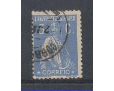 1917 - LOTTO/9666EBU - PORTOGALLO - 3c. OLTREMARE - USATO